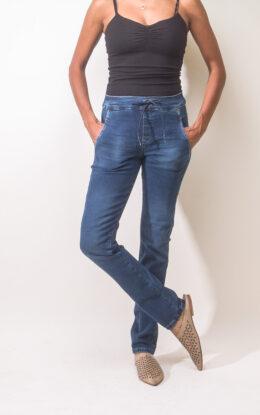 ג'ינס בובי כפתורים כחול